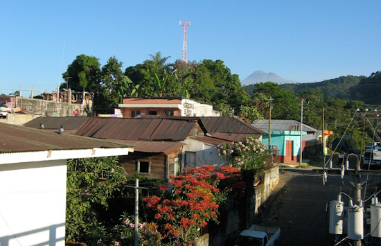 A typical Guatemalan town landscape.