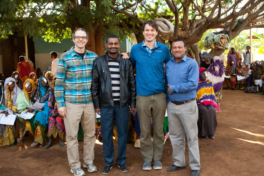 Dr. Dimmig and Oliva (Oregon) along with Ethiopian surgeons Dr. Mandefro and Alemu.