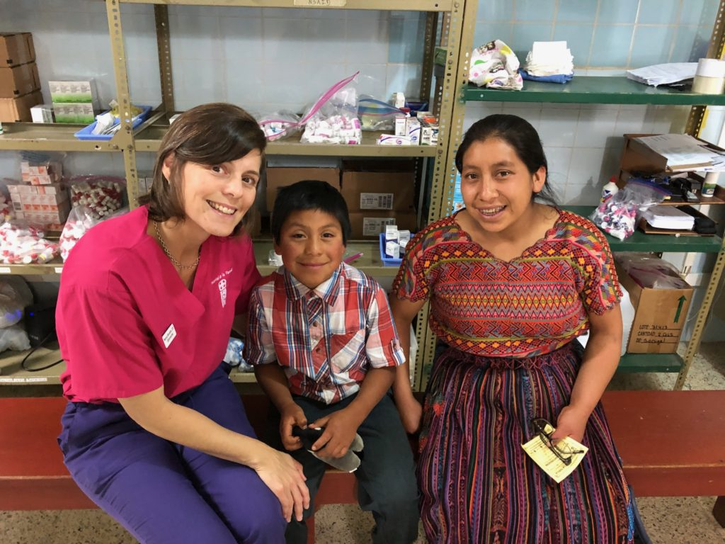 Dr. Bonetto with a Guatemalan family.